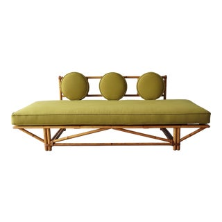Mid Century Bamboo Daybed Sofa For Sale