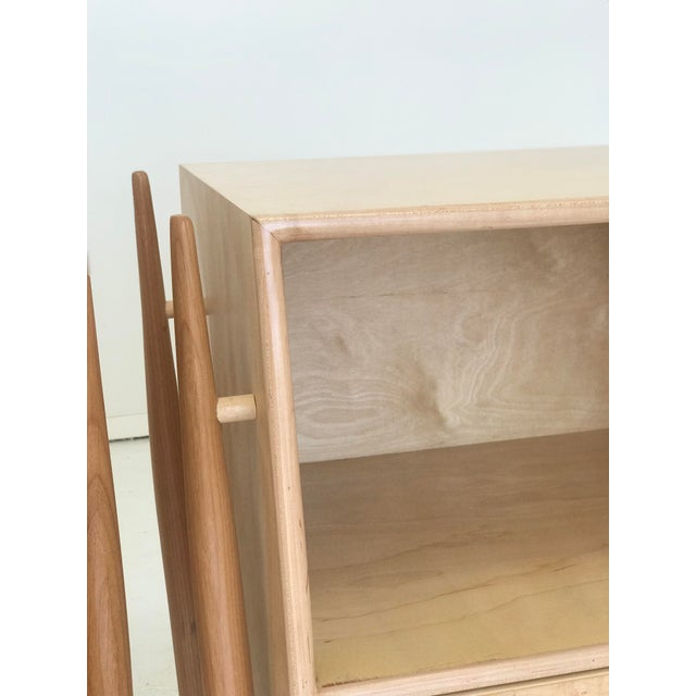 White Handmade Sculptural Nighstands in Maple For Sale - Image 8 of 13