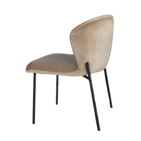 New chair can be used as a dining, office or side chair. Made of stainless steel and velvet.