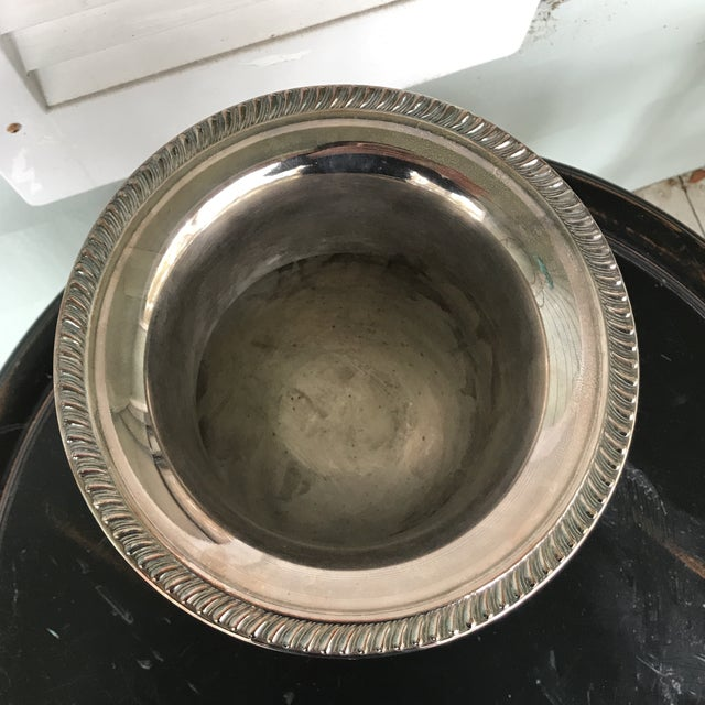 Traditional Silverplate Champagne Bucket For Sale - Image 3 of 7
