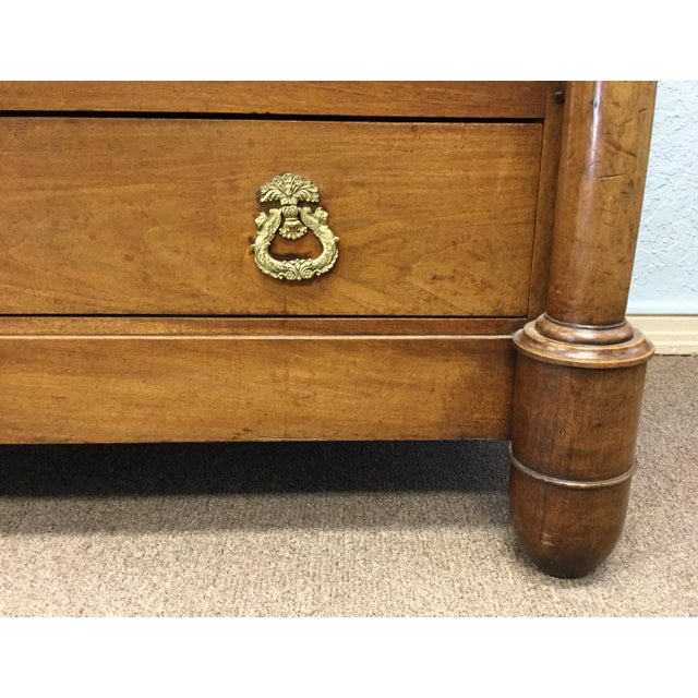 Wood 19th Century French Empire Commode For Sale - Image 7 of 10