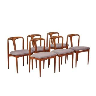 1960s Vintage Johannes Andersen Juliane Chairs - Set of 6 For Sale
