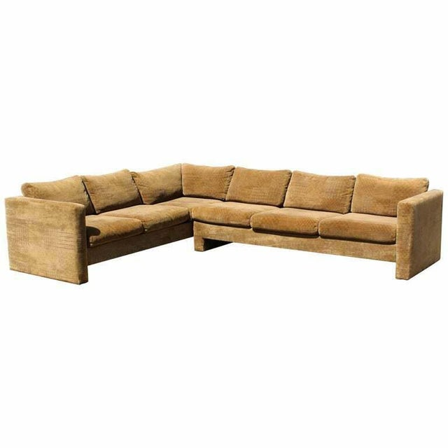 Brown Mid Century Modern Danish Selig 2 Piece Sectional For Sale - Image 8 of 8