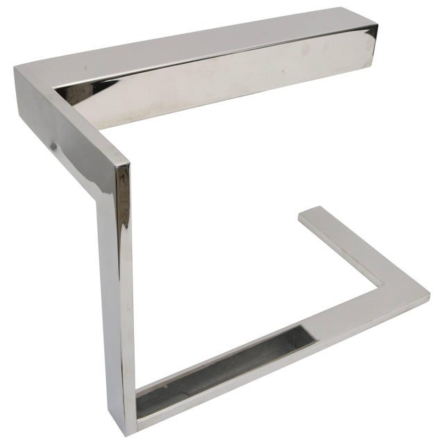 "Silver Milo Baughman Chrome ""Flat Bar"" Desk Lamp For Sale - Image 8 of 8"
