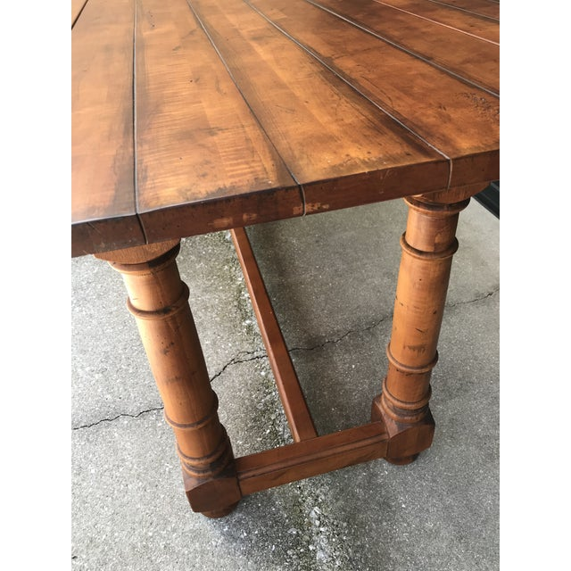 Chestnut Century French Country Drop Leaf Dining Console Table For Sale - Image 8 of 13