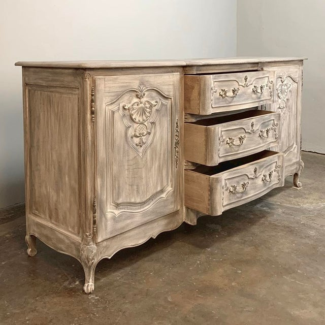 Antique French Louis XV Whitewashed Buffet For Sale - Image 4 of 13
