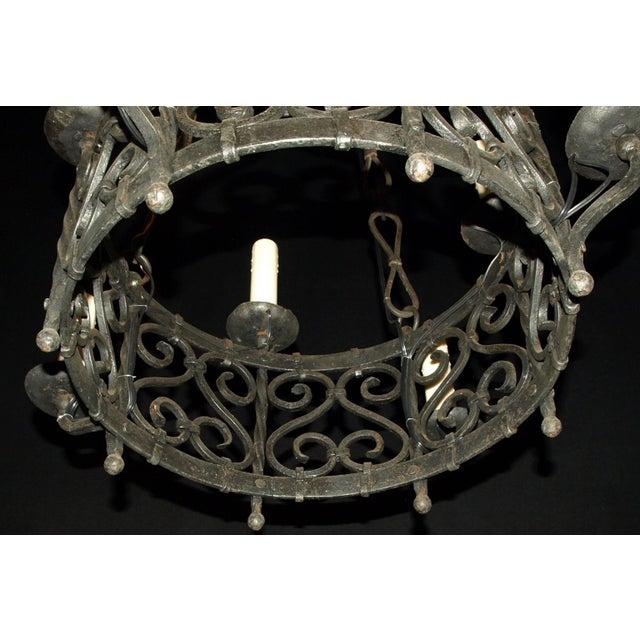 Antique Chandelier. Iron Chandelier - Image 7 of 7