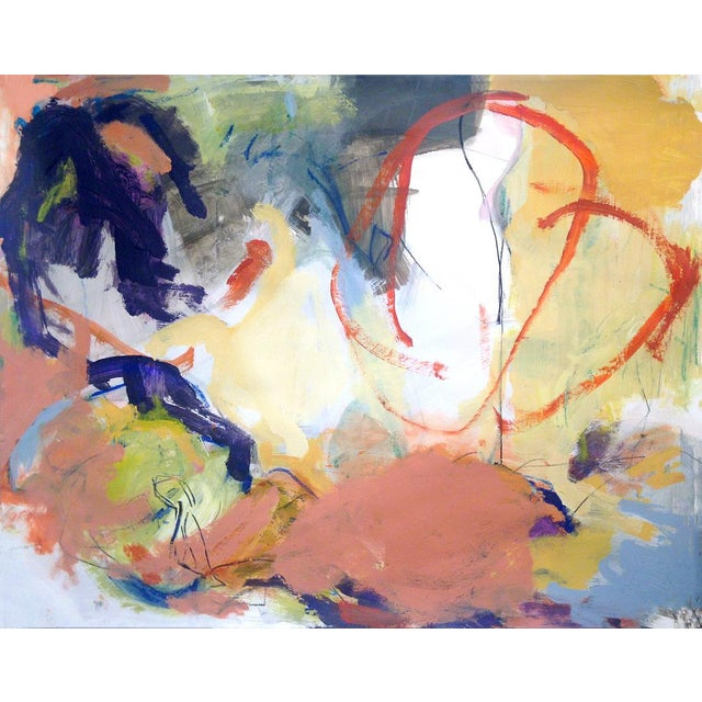 Contemporary Abstract Painting on Paper For Sale