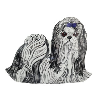 Nina Lyman Ceramic Dog Planter Vase For Sale