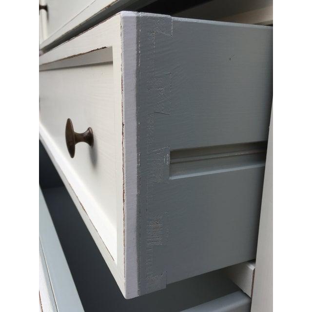Crate & Barrel White Highboy Dresser For Sale - Image 9 of 10