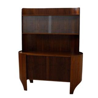 Bentwood Display / Bar Cabinet with Tambour Door