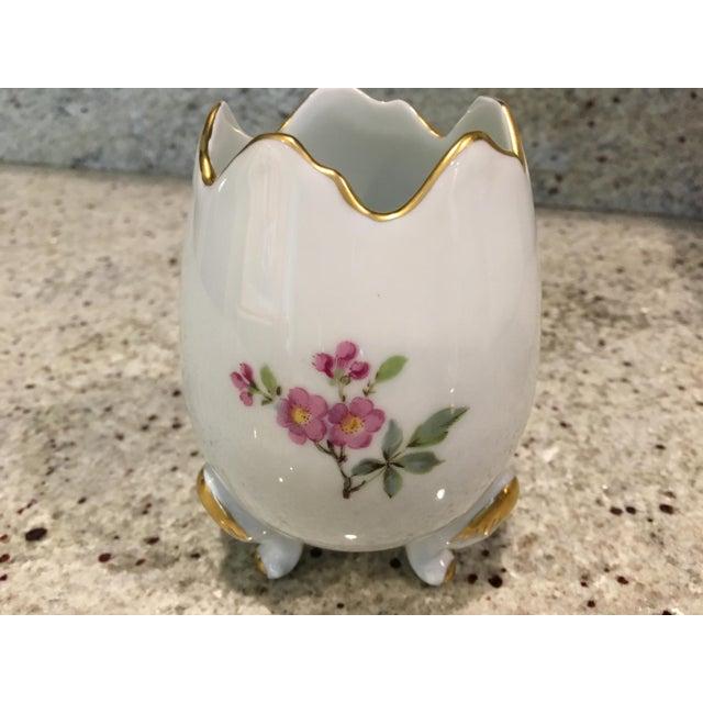 Limoges, France Limoges Porcelain Egg Vase For Sale - Image 4 of 8