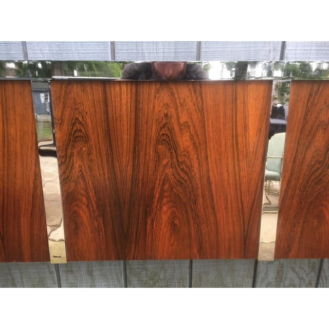 Harvey Probber Rosewood & Chrome King Size Headboard - Image 6 of 6