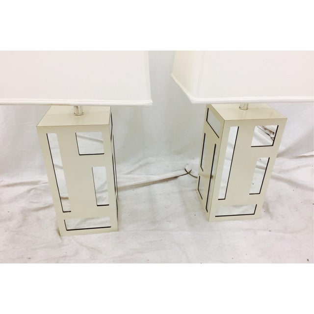 Vintage Mid-Century Mirrored Lamps - A Pair For Sale - Image 10 of 10