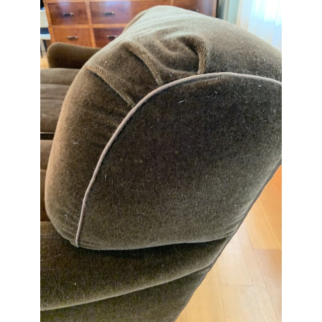 Modern Schumacher Mohair Three Seat Sofa / 2 Available For Sale - Image 9 of 12
