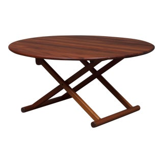 1960s Mid-Century Modern Danish Round Coffee Table For Sale