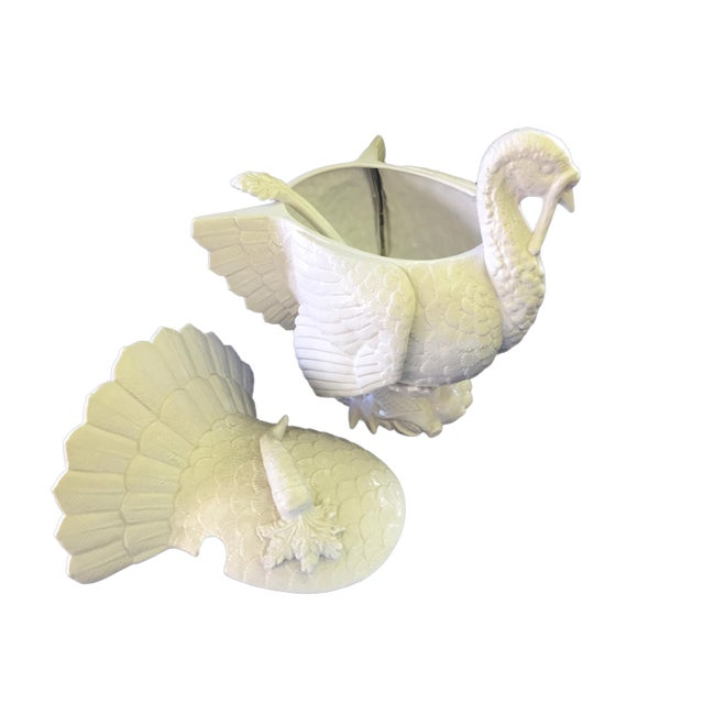 Asian Fitz & Floyd Turkey Ceramic Soup Tureen For Sale - Image 3 of 12