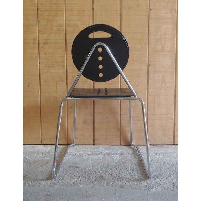 """1980s Bimbi Gioacchini for Segis Memphis Style """"Charlie"""" Chair For Sale - Image 5 of 11"""
