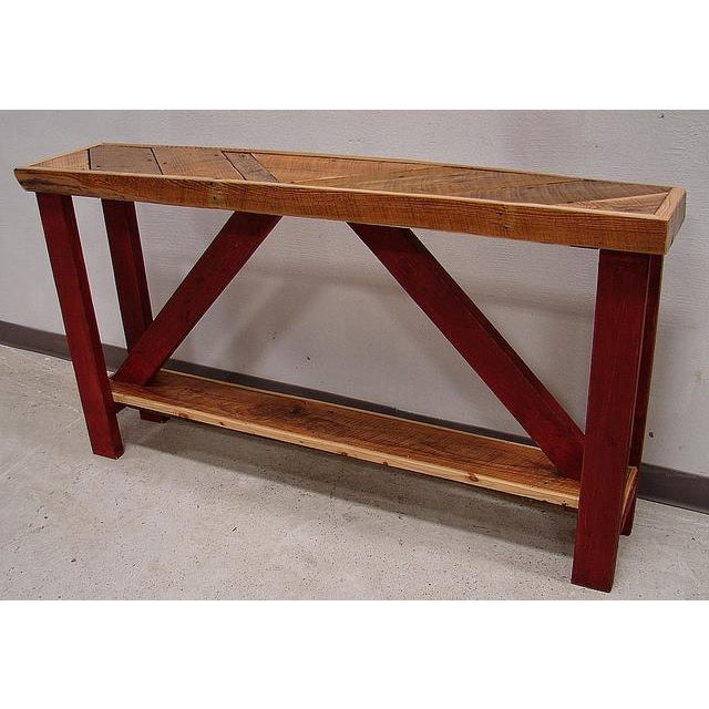 Reclaimed Barnwood Sofa or Console Table - Image 2 of 3