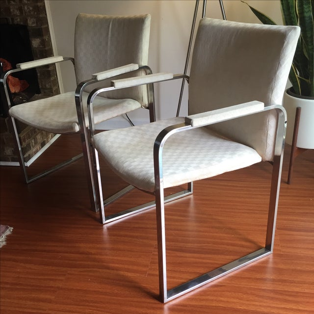 Milo Baughman Vintage Accent Chairs - Pair - Image 3 of 11