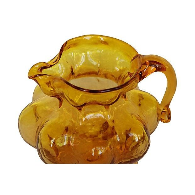 Blown Amber Glass Pitcher - Image 3 of 4