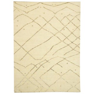 Contemporary Moroccan/African Tribal Style Area Rug - 10′2″ × 13′8″ For Sale