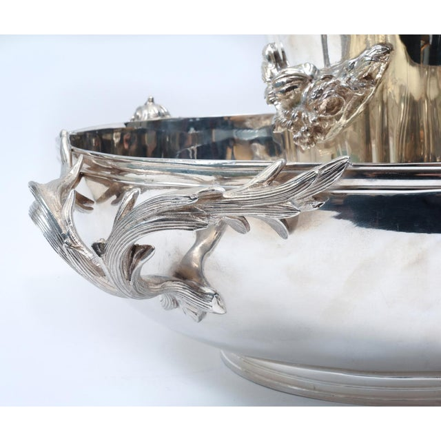 Silver Large English Sheffield Silver Plated Champagne Cooler With Ice Bucket For Sale - Image 8 of 13