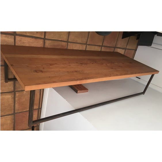 Cisco Wooden Coffee Table with Iron Leg Work - Image 6 of 6