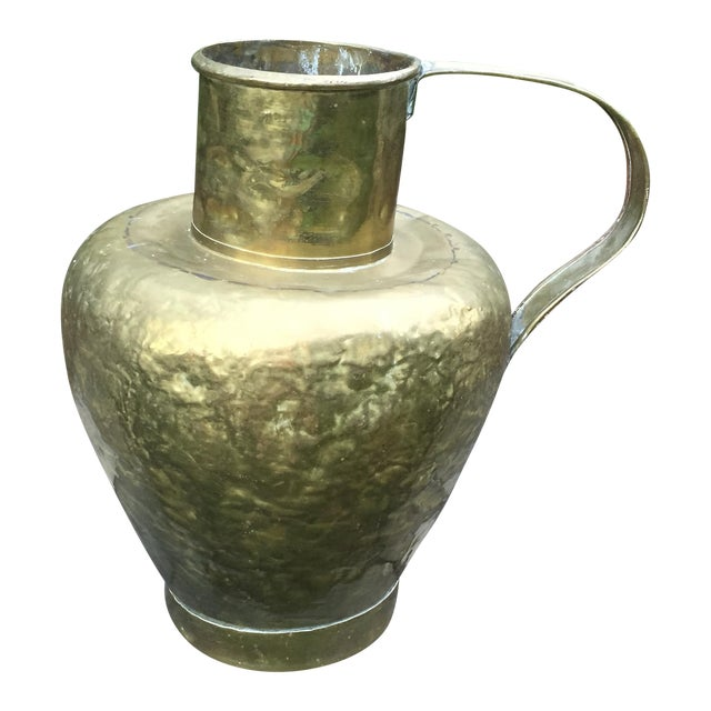 Antique Copper & Brass Hammered Water Jug - Image 1 of 11