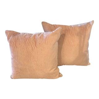 Soft Pink Velvet Pillows - a Pair