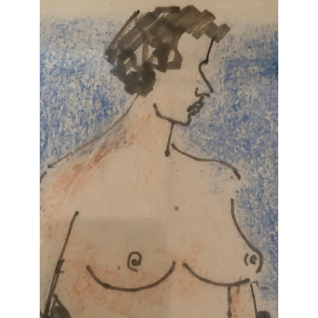 1950s Milton Avery Nude Drawing For Sale - Image 5 of 13