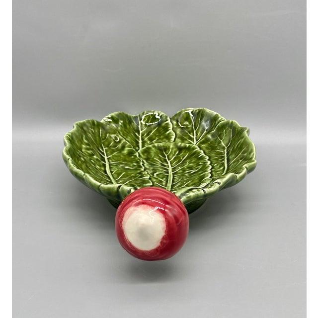 20th Century Majolica Radish Vegetable Platter/Dish For Sale - Image 4 of 10