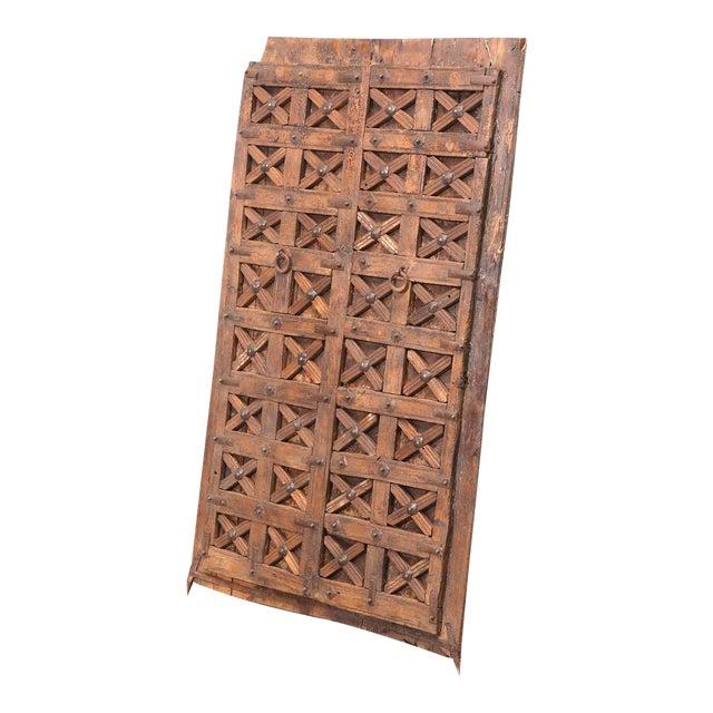Brown Antique Carved Moorish Door For Sale - Image 8 of 10