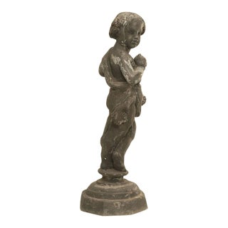 Garden Statue in Lead from England For Sale
