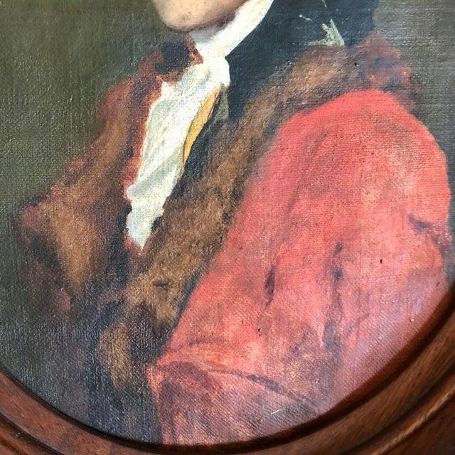 Antique Thomas Jefferson Oval Oil Portrait For Sale - Image 4 of 6