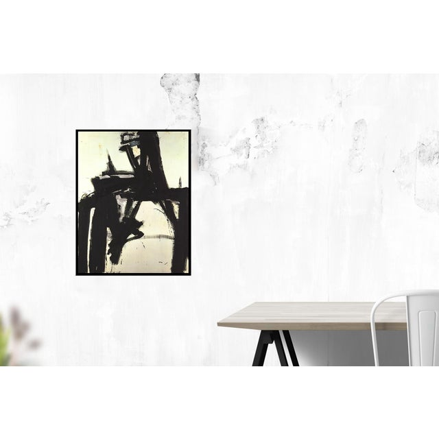 Untitled (no text) by Franz Kline, Unsigned 1997 Offset Lithograph.35.75 x 28 inches
