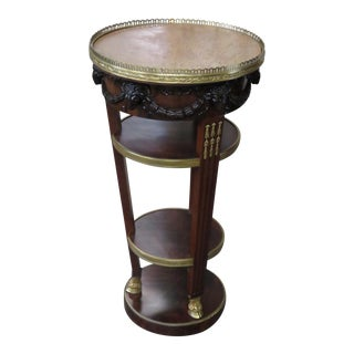 French Empire Style Marble Top Gueridon For Sale