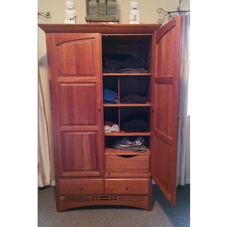 Harden Furniture Cherry Wood Armoire Preview