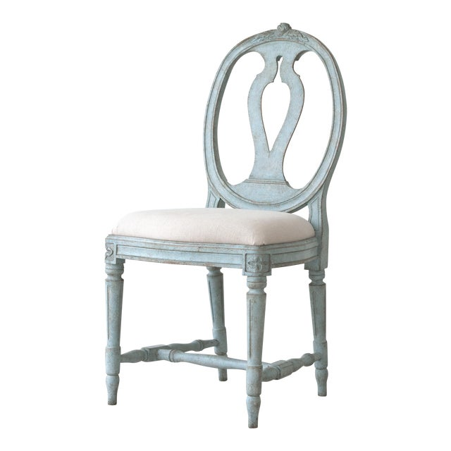 Rosa Gustavian Dining Chair For Sale
