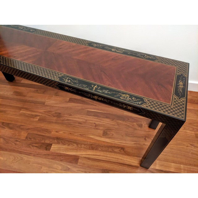 1980s Chinoiserie Console Table & Side Tables, Set of 3 (Drexel - Et Cetera Collection) For Sale - Image 9 of 13