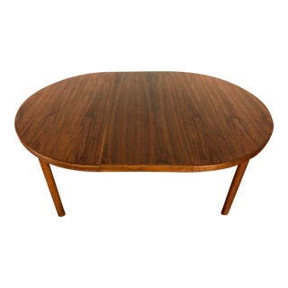 Dux Mid Century Vintage Round to Oval Dining Table For Sale