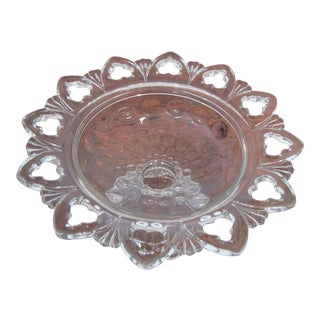 Mid Century Crystal Candy Dish/Bowl