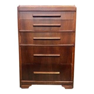 Vintage Art Deco Wood Dresser For Sale