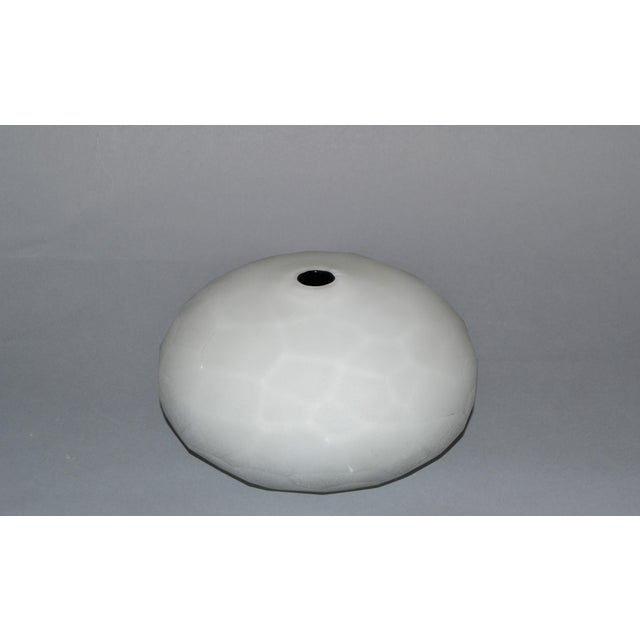 Contemporary Paolo Venini Frosted Murano Art Glass Vase Manufactured by Venini, 1997 For Sale - Image 3 of 11