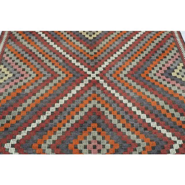 "Rug & Kilim Vintage Turkish Kilim Rug-6'4'x9'2"" For Sale - Image 4 of 13"