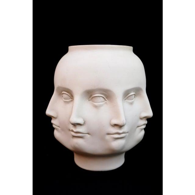 Ceramic Original Tms 2005 Vitruvian Fornasetti Style Perpetual Face Vase Dora Maar Head Planter For Sale - Image 7 of 13