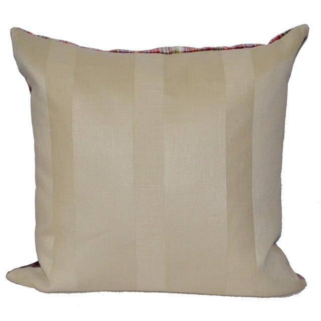 Scalamandré 100% Silk Velvet Rainbow Stripe Pillow For Sale In Los Angeles - Image 6 of 10