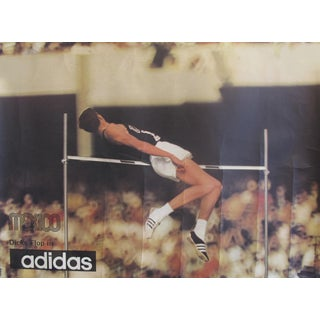 1968 Mexico Olympics High Jump Flop (Dick Fosbury) Poster - Adidas For Sale