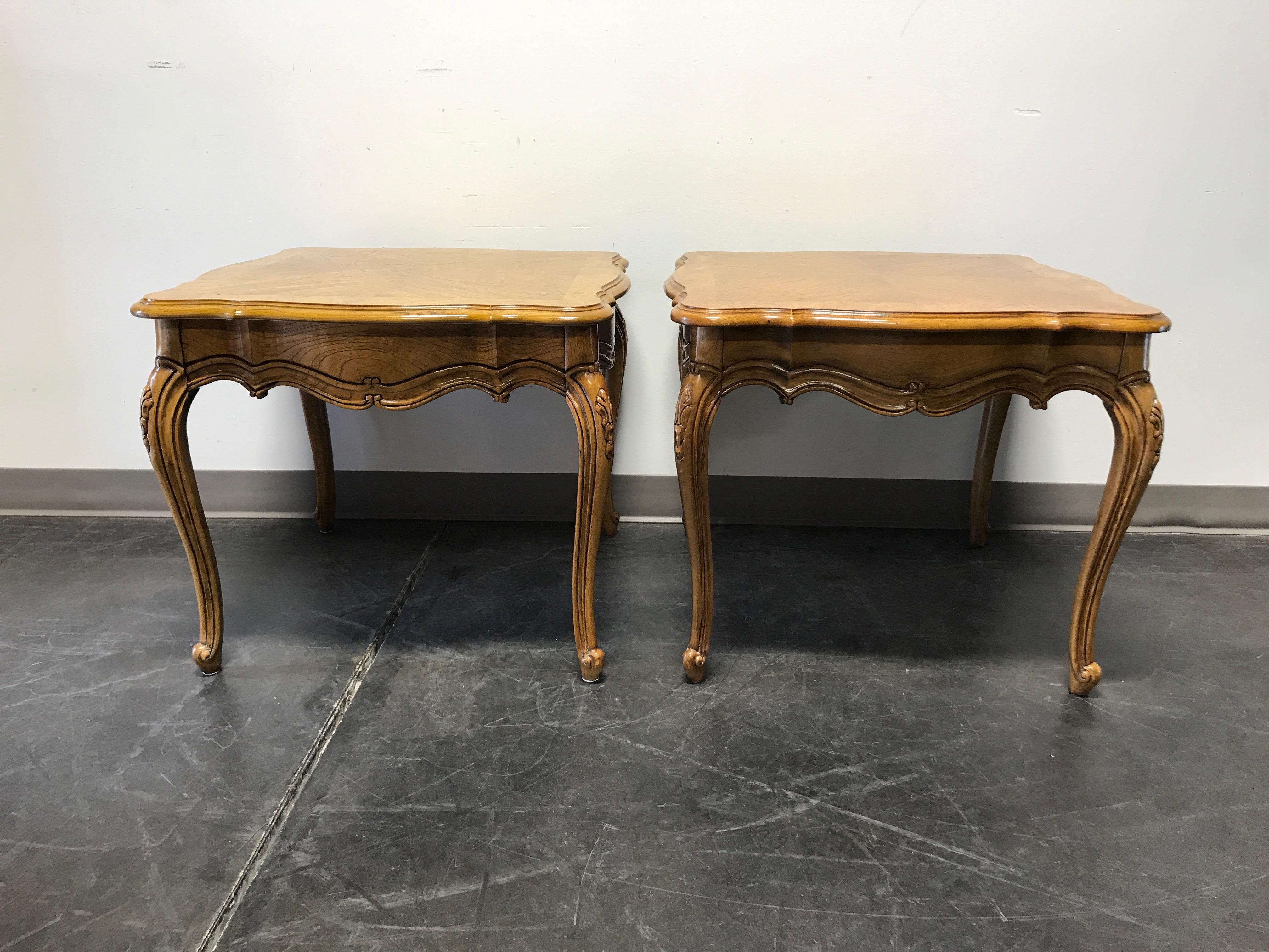 Thomasville French Court Burl Oak End Tables A Pair Chairish