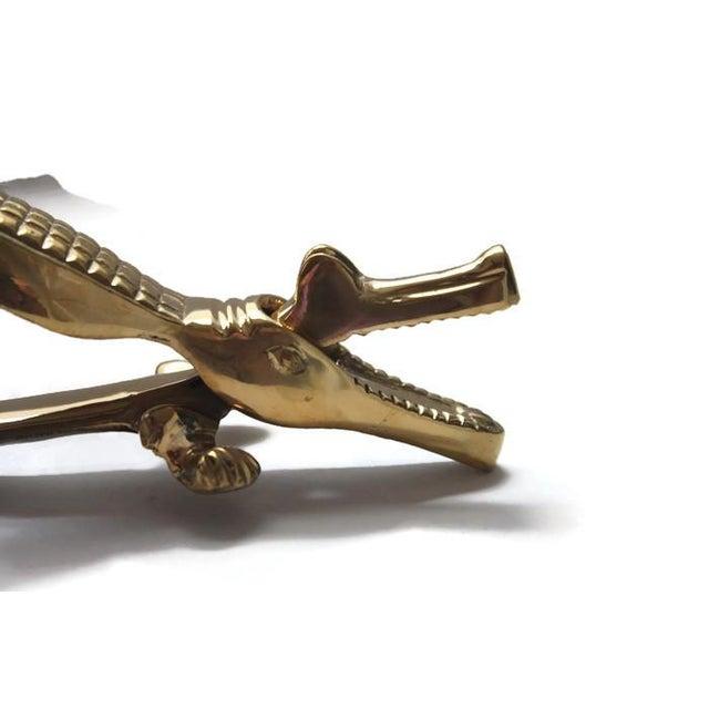 Mid-Century Modern Solid Brass Alligator Nutcracker For Sale - Image 3 of 4